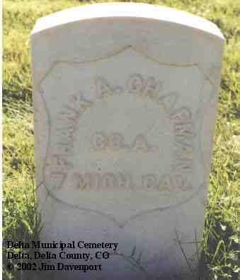 CHAPMAN, FRANK A. - Delta County, Colorado | FRANK A. CHAPMAN - Colorado Gravestone Photos