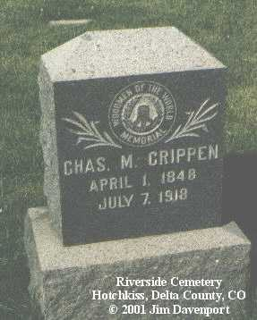 CRIPPEN, CHAS M. - Delta County, Colorado | CHAS M. CRIPPEN - Colorado Gravestone Photos