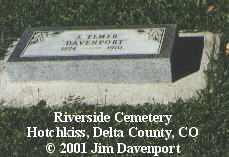 DAVENPORT, J. ELMER - Delta County, Colorado | J. ELMER DAVENPORT - Colorado Gravestone Photos