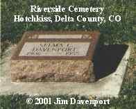 DAVENPORT, SELMA C. - Delta County, Colorado | SELMA C. DAVENPORT - Colorado Gravestone Photos