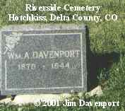 DAVENPORT, WM A. - Delta County, Colorado | WM A. DAVENPORT - Colorado Gravestone Photos