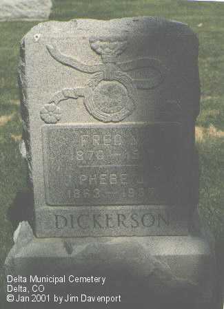 DICKERSON, FRED N. - Delta County, Colorado | FRED N. DICKERSON - Colorado Gravestone Photos
