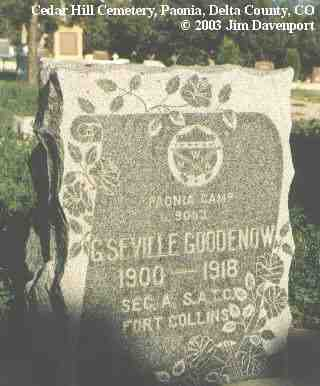 GOODENOW, G. SEVILLE - Delta County, Colorado | G. SEVILLE GOODENOW - Colorado Gravestone Photos