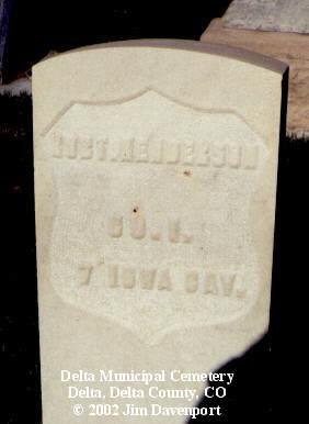 HENDERSON, ROB'T - Delta County, Colorado | ROB'T HENDERSON - Colorado Gravestone Photos