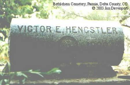 HENGSTLER, VICTOR E. - Delta County, Colorado | VICTOR E. HENGSTLER - Colorado Gravestone Photos