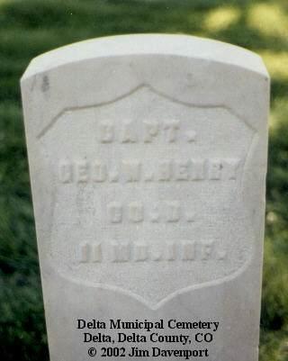 HENRY, GEO. W. - Delta County, Colorado | GEO. W. HENRY - Colorado Gravestone Photos