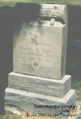 HUNT, FRANK P. - Delta County, Colorado | FRANK P. HUNT - Colorado Gravestone Photos