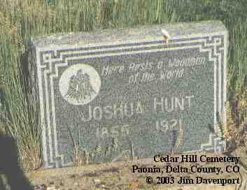 HUNT, JOSHUA - Delta County, Colorado | JOSHUA HUNT - Colorado Gravestone Photos