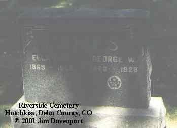 JAMES, GEORGE W. - Delta County, Colorado | GEORGE W. JAMES - Colorado Gravestone Photos