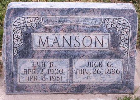 MANSON, JACK G. - Delta County, Colorado   JACK G. MANSON - Colorado Gravestone Photos