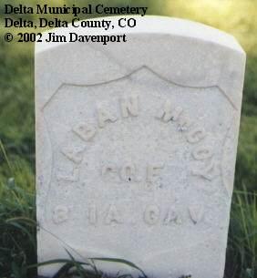 MCCOY, LABAN - Delta County, Colorado | LABAN MCCOY - Colorado Gravestone Photos
