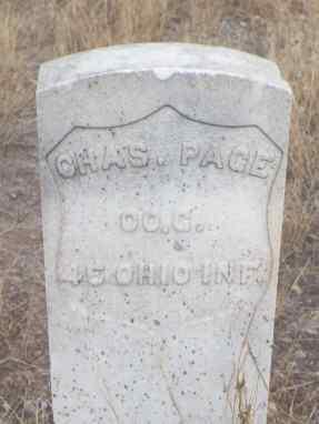 PAGE, CHAS. - Delta County, Colorado | CHAS. PAGE - Colorado Gravestone Photos
