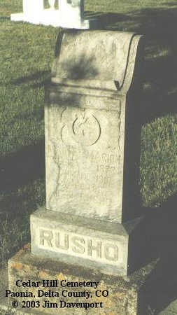 RUSHO, MAUDE MARION - Delta County, Colorado | MAUDE MARION RUSHO - Colorado Gravestone Photos