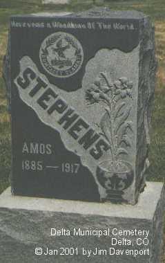 STEPHENS, AMOS - Delta County, Colorado   AMOS STEPHENS - Colorado Gravestone Photos
