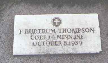 THOMPSON, F. BURTRUM - Delta County, Colorado | F. BURTRUM THOMPSON - Colorado Gravestone Photos