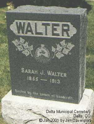 WALTER, SARAH J. - Delta County, Colorado   SARAH J. WALTER - Colorado Gravestone Photos