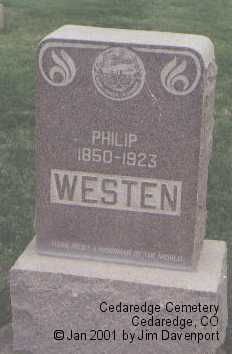 WESTEN, PHILIP - Delta County, Colorado | PHILIP WESTEN - Colorado Gravestone Photos