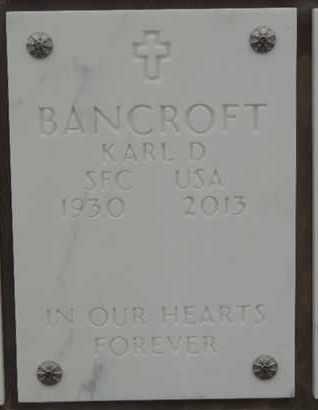 BANCROFT, KARL D - Denver County, Colorado | KARL D BANCROFT - Colorado Gravestone Photos