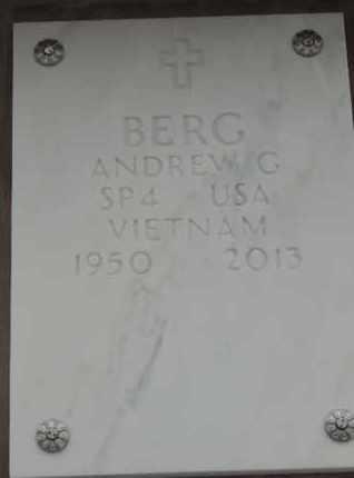BERG, ANDREW G - Denver County, Colorado   ANDREW G BERG - Colorado Gravestone Photos