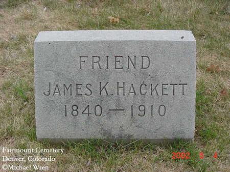 HACKETT, JAMES - Denver County, Colorado | JAMES HACKETT - Colorado Gravestone Photos