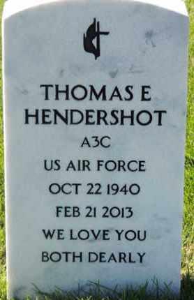 HENDERSHOT, THOMAS E - Denver County, Colorado | THOMAS E HENDERSHOT - Colorado Gravestone Photos