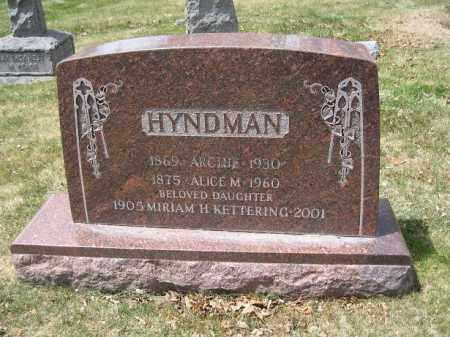 HYNDMAN, ALICE M - Denver County, Colorado | ALICE M HYNDMAN - Colorado Gravestone Photos