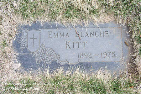 KITT, EMMA BLANCHE - Denver County, Colorado   EMMA BLANCHE KITT - Colorado Gravestone Photos