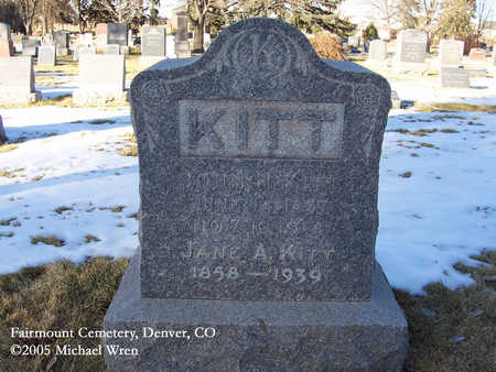KITT, JOHN H. - Denver County, Colorado | JOHN H. KITT - Colorado Gravestone Photos