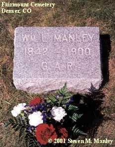 MANLEY, WILLIAM, L. - Denver County, Colorado | WILLIAM, L. MANLEY - Colorado Gravestone Photos