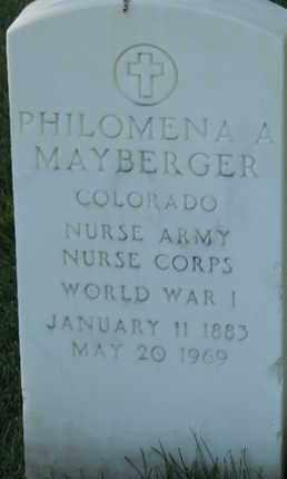 MAYBERGER, PHILOMENA A - Denver County, Colorado   PHILOMENA A MAYBERGER - Colorado Gravestone Photos