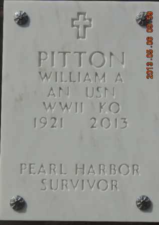 PITTON, WILLIAM A - Denver County, Colorado | WILLIAM A PITTON - Colorado Gravestone Photos