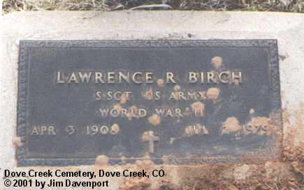 BIRCH, LAWRENCE R. - Dolores County, Colorado | LAWRENCE R. BIRCH - Colorado Gravestone Photos