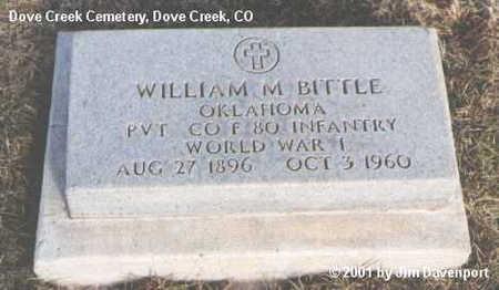BITTLE, WILLIAM M. - Dolores County, Colorado   WILLIAM M. BITTLE - Colorado Gravestone Photos