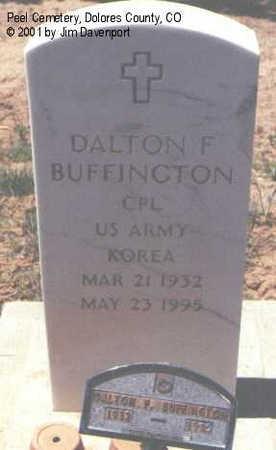 BUFFINGTON, DALTON F. - Dolores County, Colorado | DALTON F. BUFFINGTON - Colorado Gravestone Photos