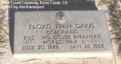 DAVIS, FLOYD IVAN - Dolores County, Colorado   FLOYD IVAN DAVIS - Colorado Gravestone Photos