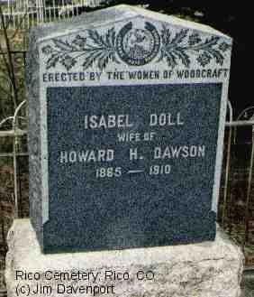 DAWSON, ISABEL DOLL - Dolores County, Colorado | ISABEL DOLL DAWSON - Colorado Gravestone Photos