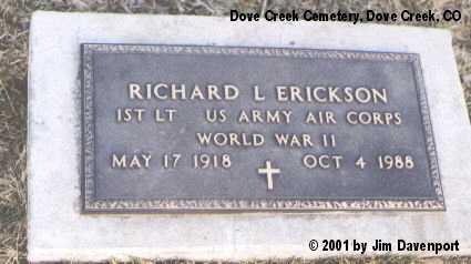 ERICKSON, RICHARD L. - Dolores County, Colorado   RICHARD L. ERICKSON - Colorado Gravestone Photos