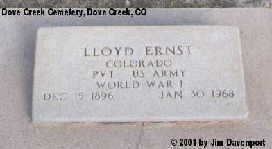 ERNST, LLOYD - Dolores County, Colorado | LLOYD ERNST - Colorado Gravestone Photos