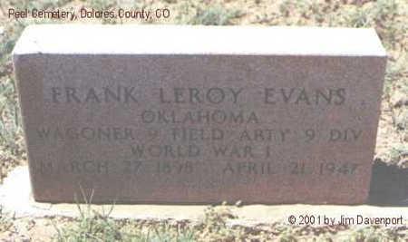EVANS, FRANK LEROY - Dolores County, Colorado   FRANK LEROY EVANS - Colorado Gravestone Photos