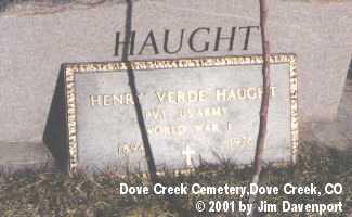 HAUGHT, HENRY VERDE - Dolores County, Colorado | HENRY VERDE HAUGHT - Colorado Gravestone Photos