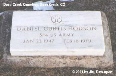 HODSON, DANIEL CURTIS - Dolores County, Colorado | DANIEL CURTIS HODSON - Colorado Gravestone Photos