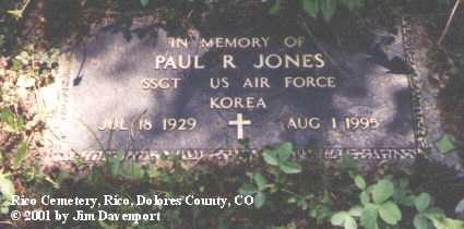 JONES, PAUL R. - Dolores County, Colorado   PAUL R. JONES - Colorado Gravestone Photos