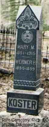 KOSTER, MARY M. - Dolores County, Colorado | MARY M. KOSTER - Colorado Gravestone Photos
