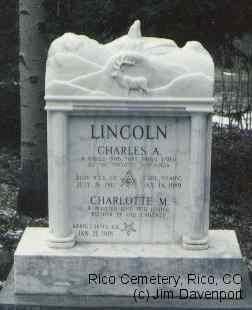 LINCOLN, CHARLES A. - Dolores County, Colorado | CHARLES A. LINCOLN - Colorado Gravestone Photos
