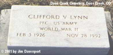 LYNN, CLIFFORD V. - Dolores County, Colorado   CLIFFORD V. LYNN - Colorado Gravestone Photos