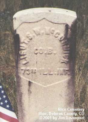 MCCORMICK, S.W. - Dolores County, Colorado   S.W. MCCORMICK - Colorado Gravestone Photos