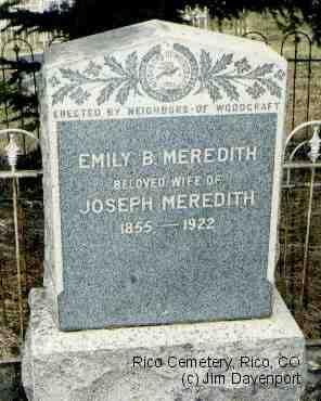 MEREDITH, EMILY B. - Dolores County, Colorado | EMILY B. MEREDITH - Colorado Gravestone Photos