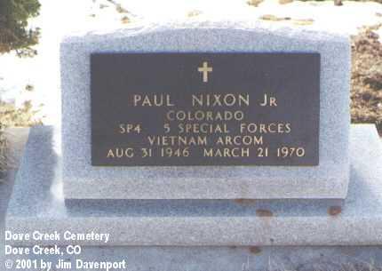 NIXON, JR., PAUL - Dolores County, Colorado   PAUL NIXON, JR. - Colorado Gravestone Photos