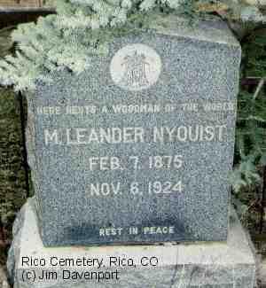 NYQUIST, M. LEANDER - Dolores County, Colorado | M. LEANDER NYQUIST - Colorado Gravestone Photos