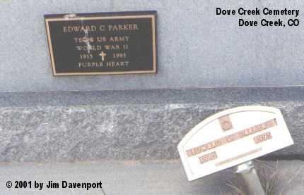 PARKER, EDWARD C. - Dolores County, Colorado | EDWARD C. PARKER - Colorado Gravestone Photos